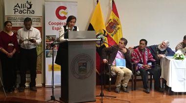 Clara Pardo, presidenta de Manos Unidas, en el acto de cierre del convenio con Ecuador. Foto Ana Pérez/Manos Unidas