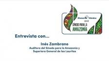 Entrevista a Inés Zambrano durante el Sínodo para la Amazonía